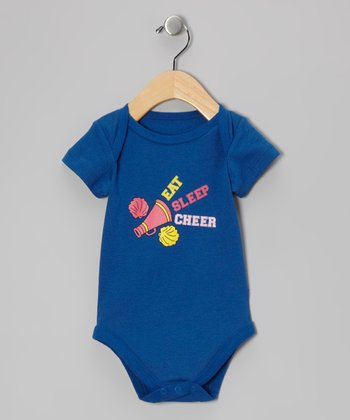 Blue 'Eat Sleep Cheer' Bodysuit - Infant