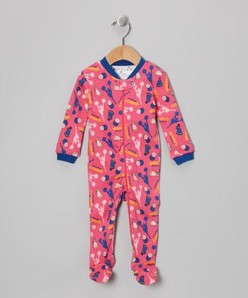 Pink Cheer Footie - Infant