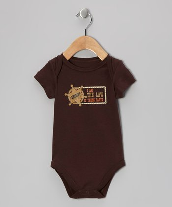 Brown 'Sheriff' Bodysuit - Infant