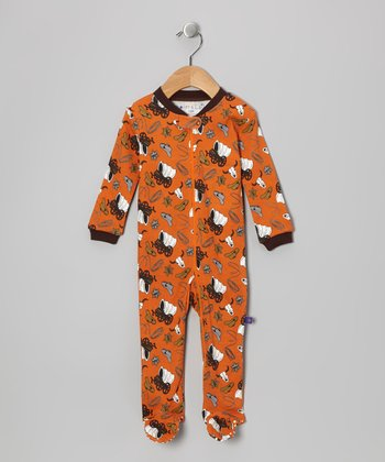 Orange Cowboy Footie - Infant