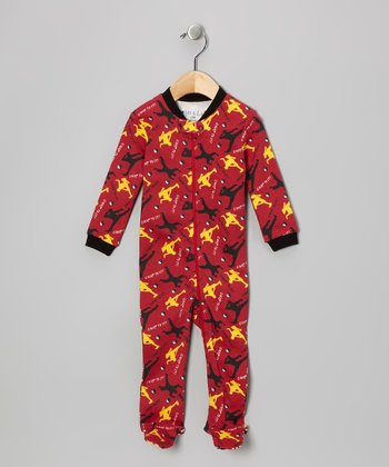 Red 'Chop to It' Footie - Infant