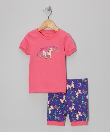 Pink 'Rodeo Princess' Pajama Set - Toddler & Kids