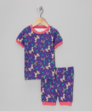 Purple Rodeo Princess Pajama Set - Toddler & Kids