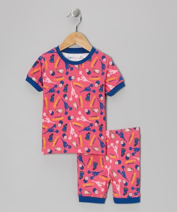 Pink Cheer Pajama Set - Toddler & Kids