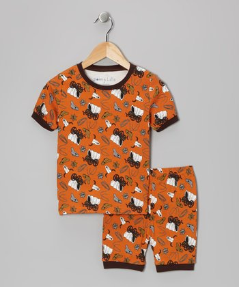 Orange Cowboy Pajama Set - Toddler & Kids