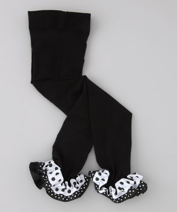 Black & White Dot Leggings - Infant, Toddler & Girls