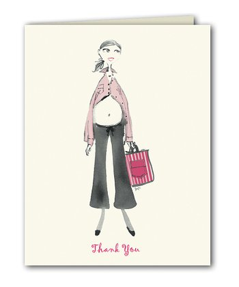 Pink Peekaboo Mom Thank You Note - Set of 15