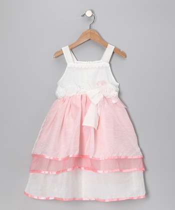 Pink Rosette Dress - Girls