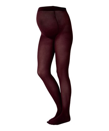 Eggplant Maternity Tights