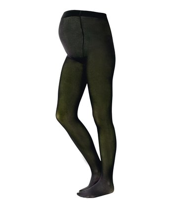 Moss Green Maternity Tights