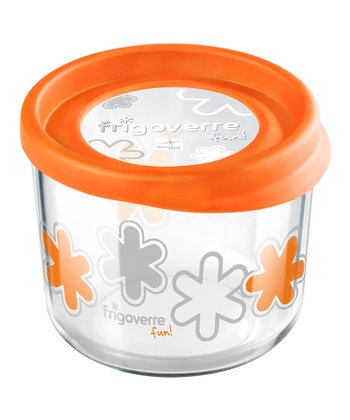 Orange 23.75-Oz. Round Storage Container