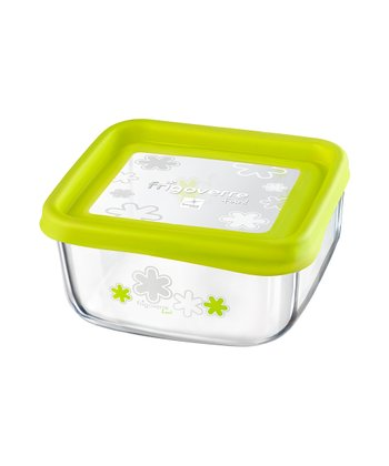 Green 25.5-Oz. Square Storage Container
