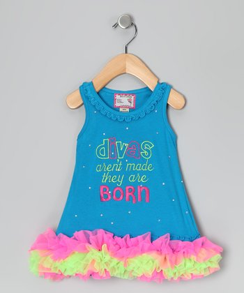 Blue 'Divas' Tutu Dress - Infant, Toddler & Girls