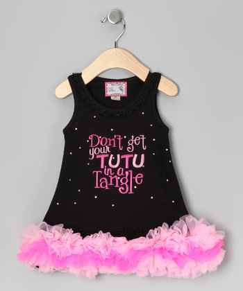 Black & Pink 'In a Tangle' Tutu Dress - Infant, Toddler & Girls
