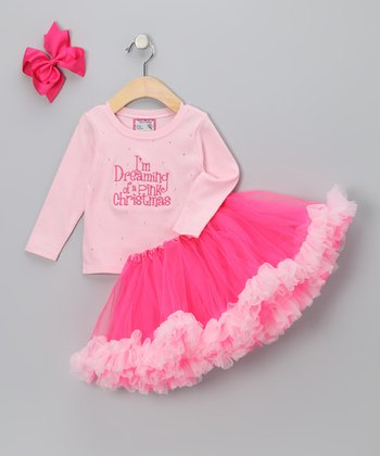 Pink 'I'm Dreaming' Tutu Set - Infant, Toddler & Girls