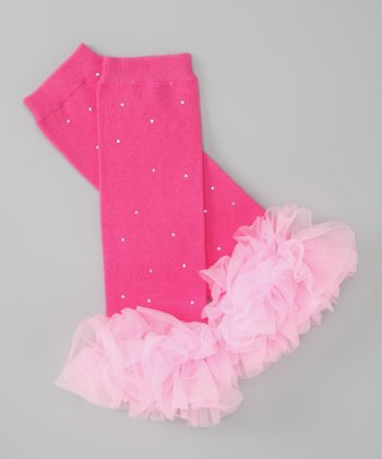 Hot Pink Ruffle Leg Warmers
