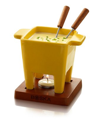 Yellow Two-Person Fondue Set