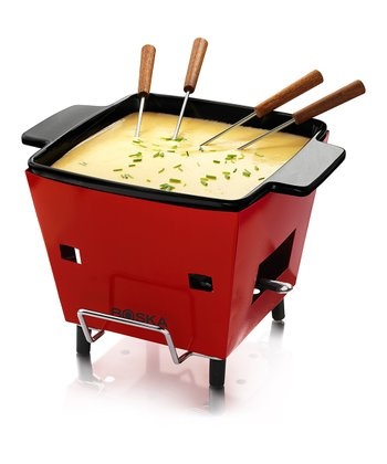 Red Outdoor Fondue Set