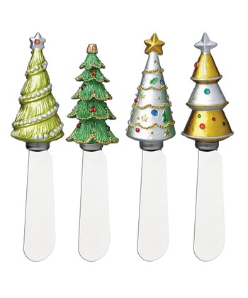 Jeweled Christmas Tree Spreader Set