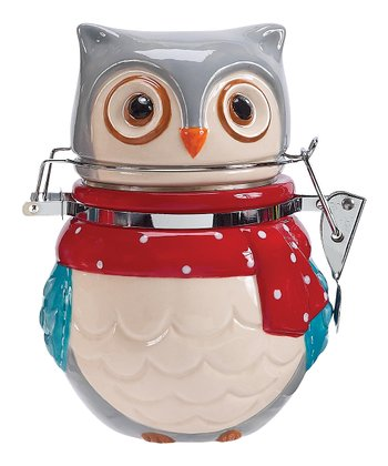 Boston Warehouse Snowy Owl Hinged Jar