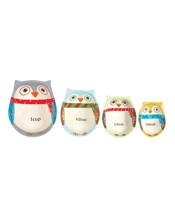 Boston Warehouse Snowy Owls Measuring Cup Set