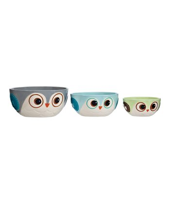 Boston Warehouse Snowy Owls Prep Bowl Set
