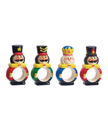 Boston Warehouse Nutcracker Napkin Ring Set