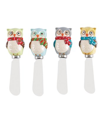 Boston Warehouse Snowy Owls Spreader Set