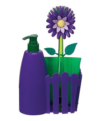 Plum Flower Garden Countertop Caddy Set