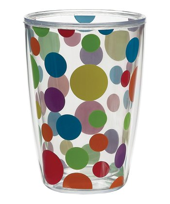 Primary Polka Dot 16-Oz. Tumbler - Set of Four