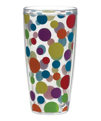 Primary Polka Dot 24-Oz. Tumbler - Set of Four