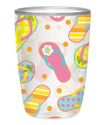 Sunshine Sandal 16-Oz. Insulated Tumbler - Set of Four