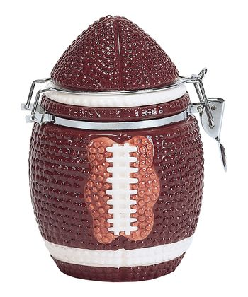 Brown & White Touchdown Hinged Jar
