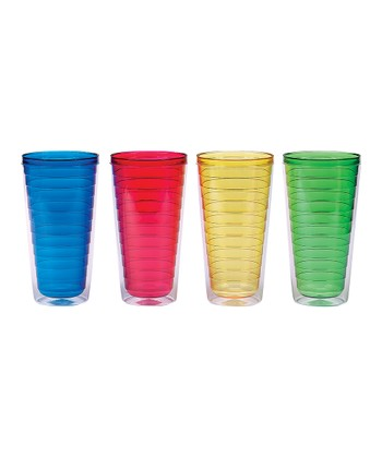 Primary Colors 24-Oz. Insulated Tumbler Set