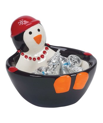 Boston Warehouse Penguin Party Candy Bowl