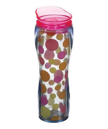 Hot Polka Dot Insulated Travel Mug