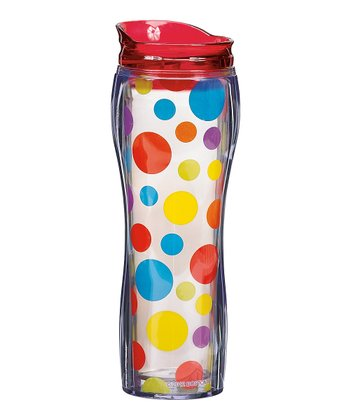 Primary Polka Dot Insulated Travel Mug