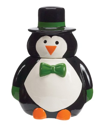 Boston Warehouse Penguin Party Cookie Jar