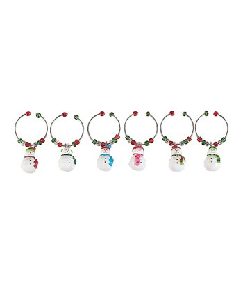 Let It Snow Wine Charm Set