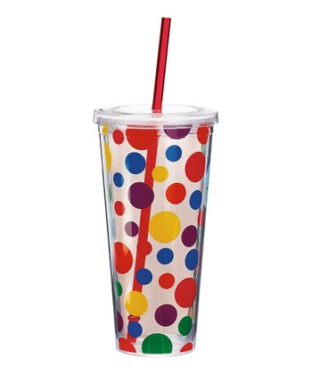 Primary Polka Dot Insulated Tumbler