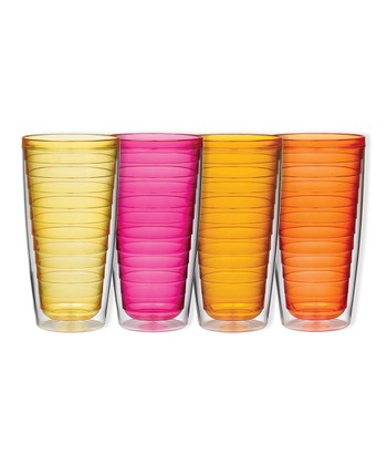 Hot Colors 24-Oz. Insulated Tumbler Set