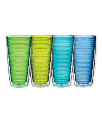 Cool Colors 24-Oz. Insulated Tumbler Set