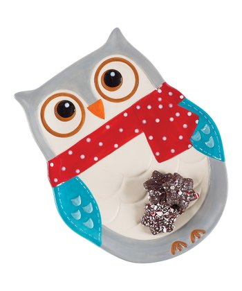 Boston Warehouse Snowy Owls Platter