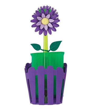 Plum Flower Garden Sponge Caddy Set