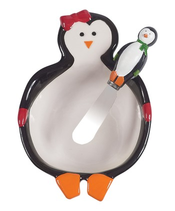 Boston Warehouse Penguin Party Dip Bowl & Spreader