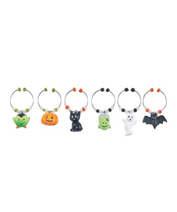 Happy Hauntings Wine Charm Set