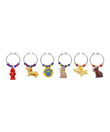 No Bones About It Wine Charm Set