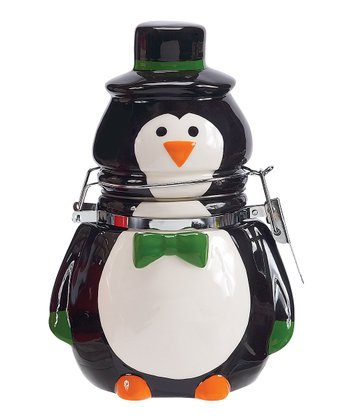 Boston Warehouse Penguin Party Hinged Jar