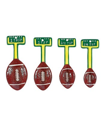 Brown & White Touchdown Measuring Spoon Set