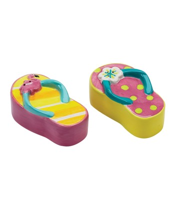 Sunshine Sandal Salt & Pepper Shakers